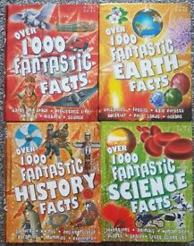 Over 1000 facts about EARTH, HISTORY, SCIENCE and FANTASTIC FACTS - 4 KIDS BOOKS