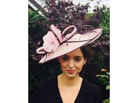 Lovely pink and purple ladies occasion-wear hat, only worn once, like new