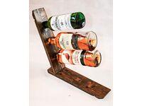 Oak Whisky Barrel Stave, Bottle Holder