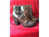 *BRAND NEW* Heeled Holographic, diesel boots (Frome, Somerset) (they are a size 7 but fit a size 6)