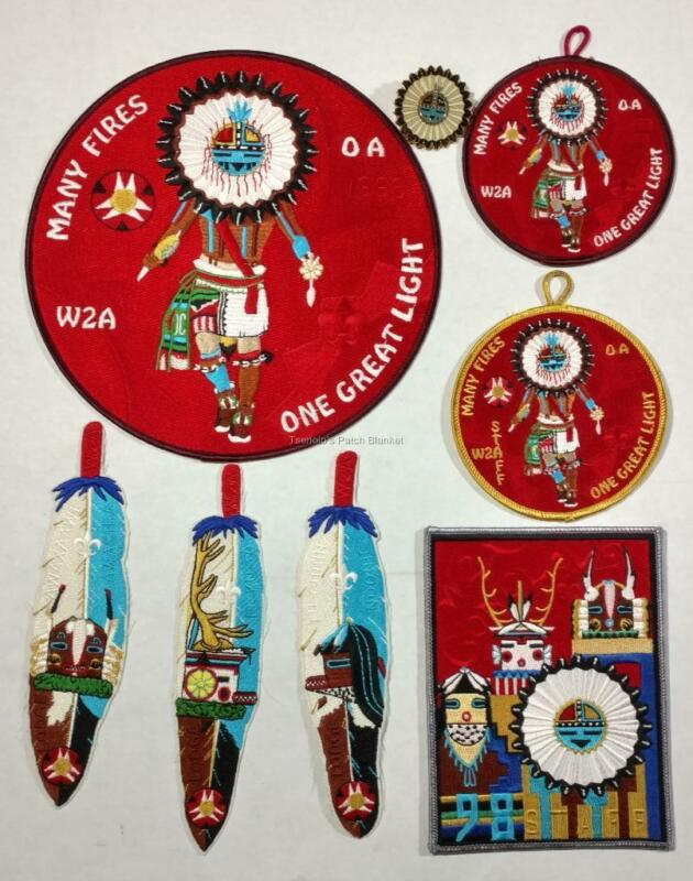 Section W2A 1998 Conclave Patch Set Lodge 508 520 535 Mint Cond FREE SHIPPING