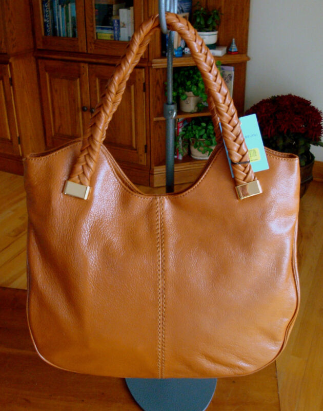 Antonio Melani Leather Thandie Tote + Dust Bag NWT $229