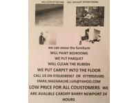 Removal painting rubbish collect