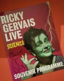 Ricky Gervais signed souvenir programme