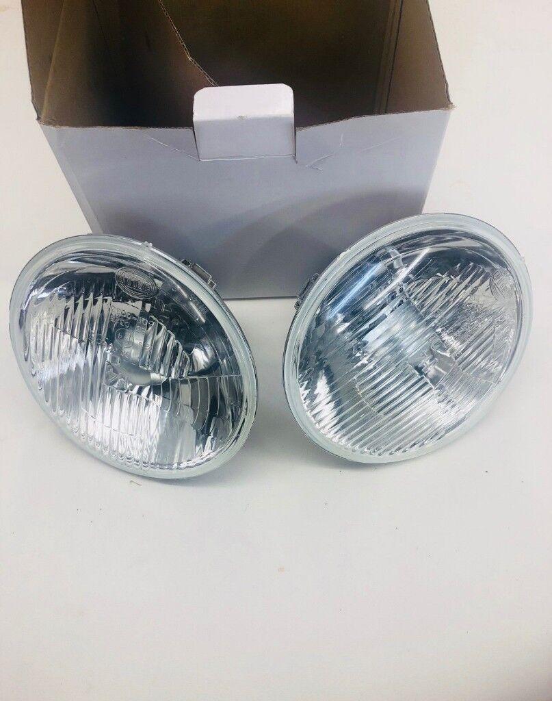7 Inch Head Lights Set Of 2 Hella Jeep Wrangler Jk In Bradford Bulb