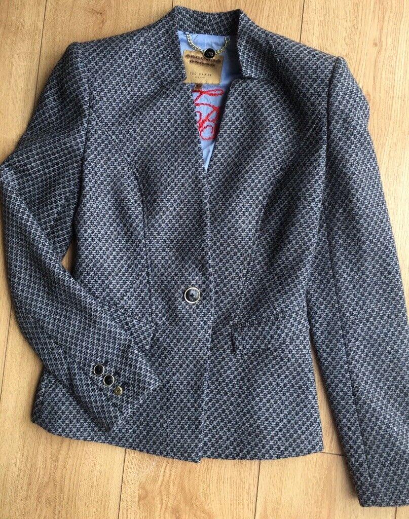 8a4e27b062cb Ted Baker women wool jacket blazer size 0 (UK 6) as new