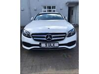 Latest model Mercedes E class in White Wedding Car hire with Chauffeur.