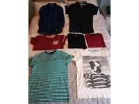 7 men's shirts - medium & large - bundle