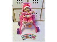 Vtech little love 3in1 pushchair & grow with me doll