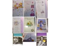 Job lot of cards individually wrapped cards x50 / birthday / MALE / FEMALE / BOY / GIRL