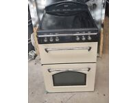 6 MONTHS WARRANTY Cream Leisure AA energy rated, double oven electric cooker FREE DELIVERY