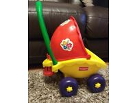 FUNSKOOL Kids Dolls pram / buggy / pushchair with bell