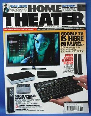 Home Theater Magazine February 2011 - Google TV - NEW