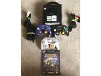 Gamecube 3 Controllers 2 memory cards and starfox bundle