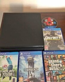 Black PS4 Slim 500GB Good condition with 5 games £130