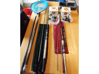 Fishing Equipment 2 rods, reels and accessories