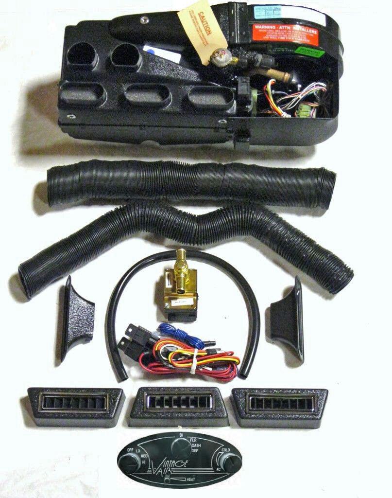 vintage air a c vintage air gen ii compac heat a c defrost system w black streamline