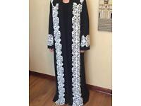 Black Lace Abaya