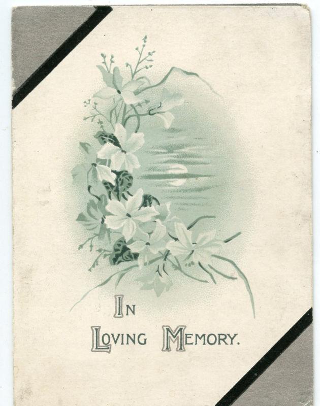 1906- Memorial-Funeral Annoncement-ANN CAROLINE GASKAIN-London England