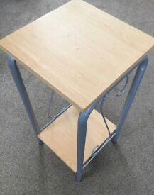 Table with metal sides