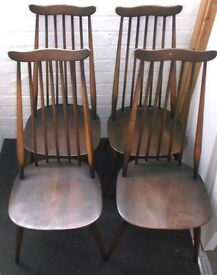 Four Ercol Goldsmith Dining Chairs
