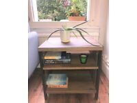 Marks and Spencer - Side Table - Coffee Table Industrial Wood and Metal
