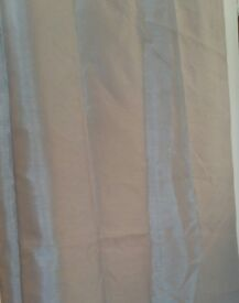 Silver/grey fully lined curtains 228x224cm (pair of)