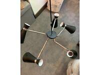 Dar lighting 5 pronged light shade chandelier