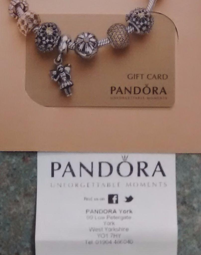 Pandora £55 Gift Card + receipt, expires 21 Feb 2016 | in York ...