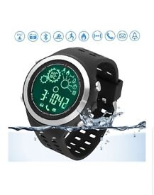 BNIB - Sports Smartwatch with Bluetooth/Pedometer/Tracker/Remote Camera/