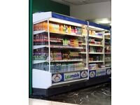 USED 6.2 FT Wide Shop Fridge FOR SALE Commercial Dairy Drinks Cabinet Display In Working Condition
