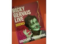 Rare signed Ricky Gervais Programme