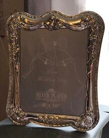 Wedding Silver Plated Photo Frame - Size 8x10 Excellent Condition