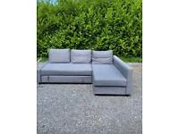 FREE DELIVERY 🚚 IKEA GREY FABRIC MODERN CORNER SOFA BED GREAT CONDITION