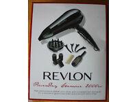 Revlon Hairdryer - Powerdry Glamour 2000w set