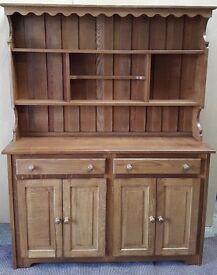 Solid Oak handmade Welsh Dresser.