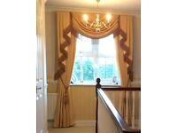 Beautiful Swags and Tails and matching Door Curtain including track