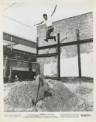 Rumble On The Docks   Original Photo James Darren Jumps Off Roof