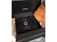 Steepletone SRP1R Portable Turntable Record Player
