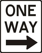 One Way Metal Sign