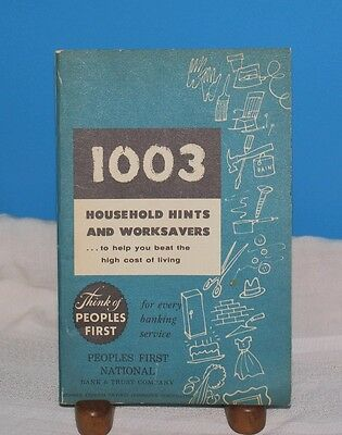 1947 Book 1003 Household Hints   Worksavers Peoples 1St Natl Bank Pa