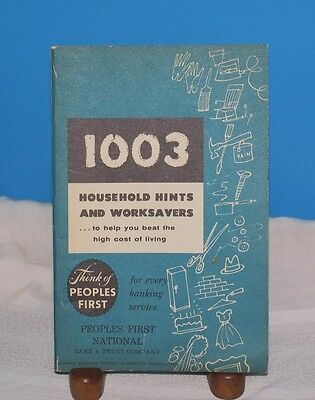 1947 Book 1003 Household Hints   Worksavers Peoples 1St Natl Bank Canonsburg Pa