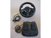 Steering wheel & pedals Sabre for playstation 2