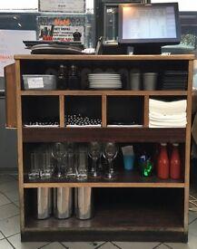 Wooden Waiters Stations, Shelves & Compartment unit, Bookshelf, storage unit