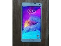 Samsung Note 4 unlocked mobile 32Gb + case and other extras - professionally CHECKED