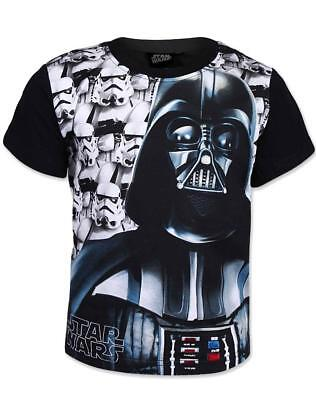 BOYS OFFICIAL STAR WARS BLACK STORMTROOPER SHORT SLEEVE T SHIRT/TOP 6-12 YEARS