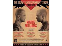 Robbie Williams 2 x Seated Tickets Murrayfield Stadium Edinburgh