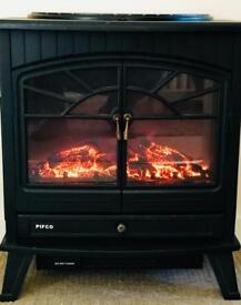 Pifco Full Size Log Effect Stove Style Fire Electric Fan Heater