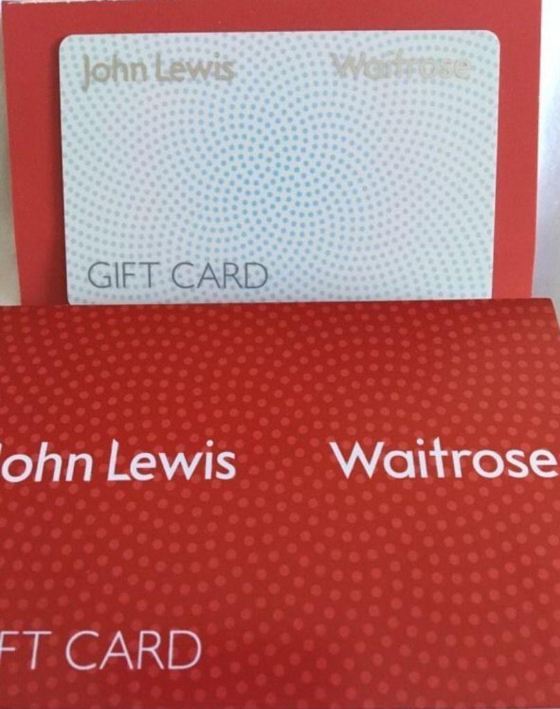 John lewis gift card worth £300