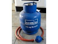 Calor Gas bottle 4.5 kg butane cylinder plus butane regulator and hose